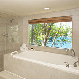 bathrooms with lake view